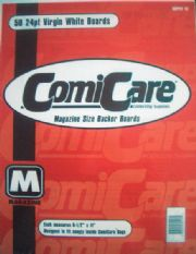 Magazine Boards x100 - Comicare Backing Backer Board